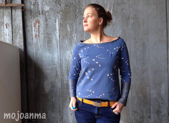 finasideen, swafing, blau, schwalben, shirt, dielederwerkstatt