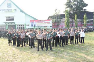 Jalin Sinergitas, Kapolda Jambi Pimpin Upacara Gabungan TNI - Polri di Makorem 042/Gapu