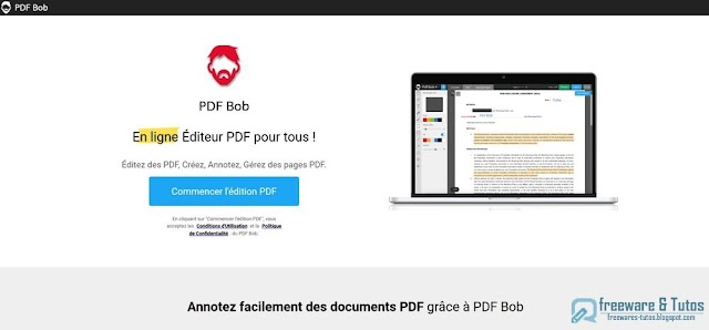 PDF Bob : votre éditeur PDF gratuit en ligne