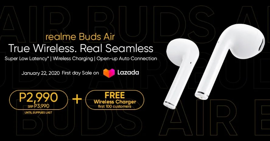 Realme Buds Air True Wireless Earphones Lands in PH for as Low as Php2,990