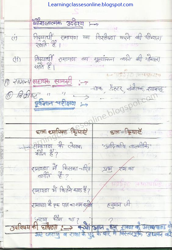 how to make class 6 sanskrit lesson plan