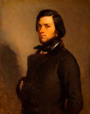 Жан Франсуа Милле - Портрет мужчины. 1845