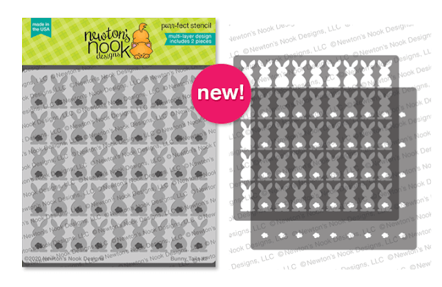 Bunny Tails Stencil Set | 2 piece Bunny and tails layering stencil by Newton's Nook Designs #newtonsnook