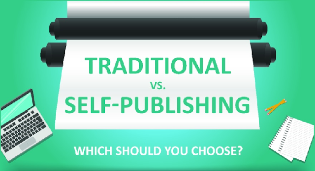 Traditional vs. Self-Publishing #infographic