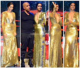 Deepika Padukone Promoting   Return of Xander Cage in India in Golde Gown 93 .xyz.jpg