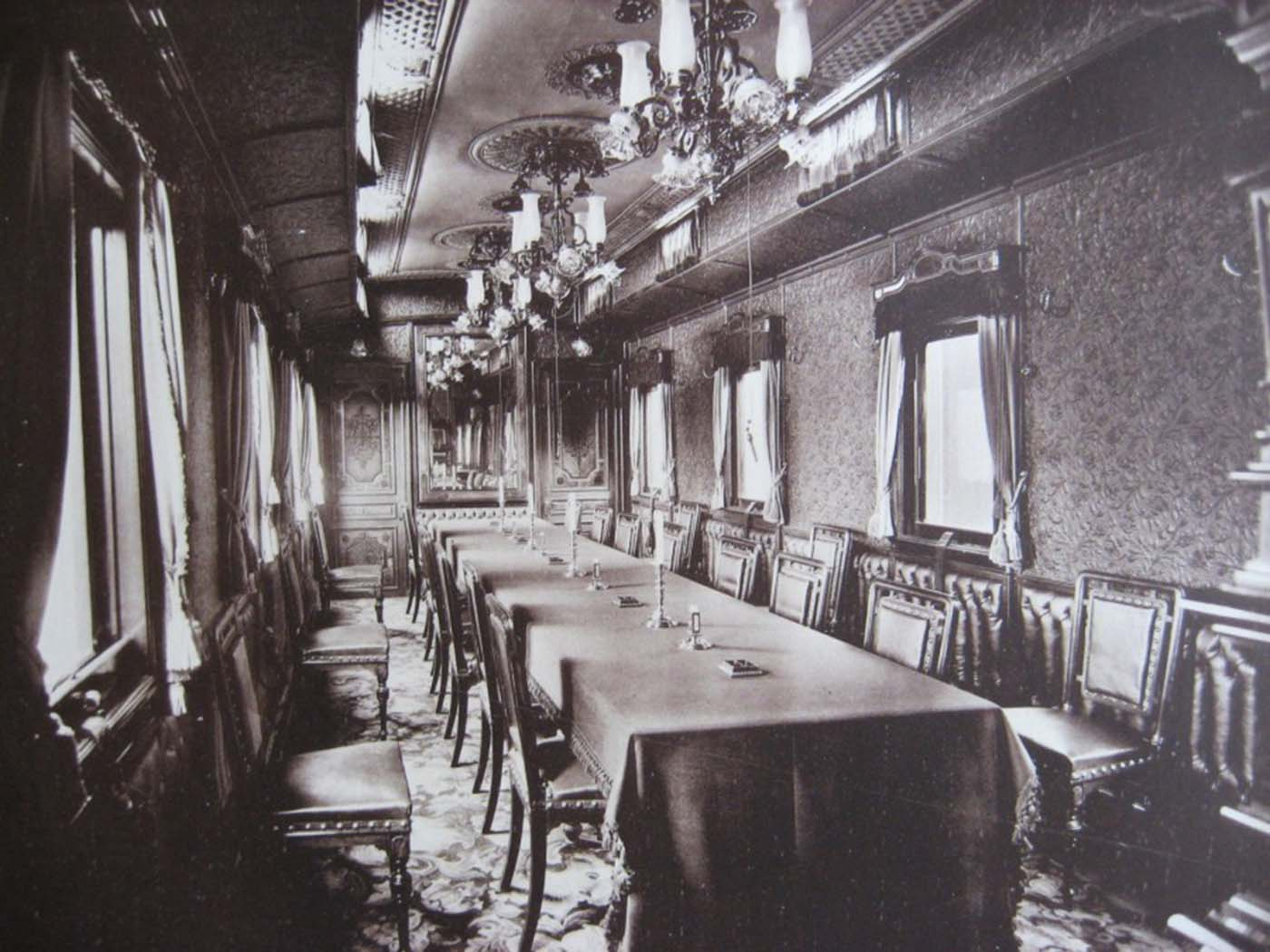 Gray Upholstered Dining Chairs Set Of 6 Inside Romanov's Imperial Train, 1890s-1900s