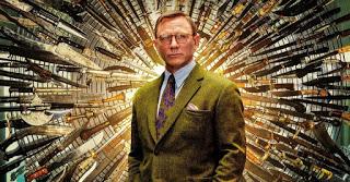 """Daniel Craig est cerné par des couteaux, """"à la trône de fer"""" sur l'affiche d'à couteaux tirés"""