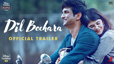 Sushant last film 'Dil Bechara' trailer released