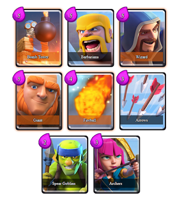 Clash Royale Deck Arena 5 (Meat Shield Madness)
