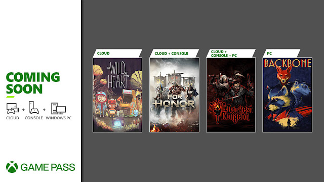 xbox game pass 2021 backbone darkest dungeon for honor the wild at heart xb1 xsx