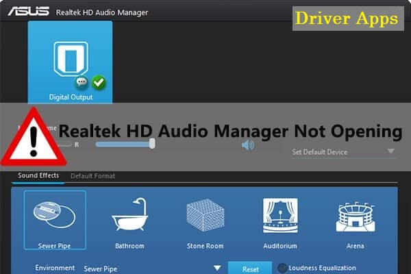Reinstall Realtek Audio Manager for Windows 10 (15 October 2020 )