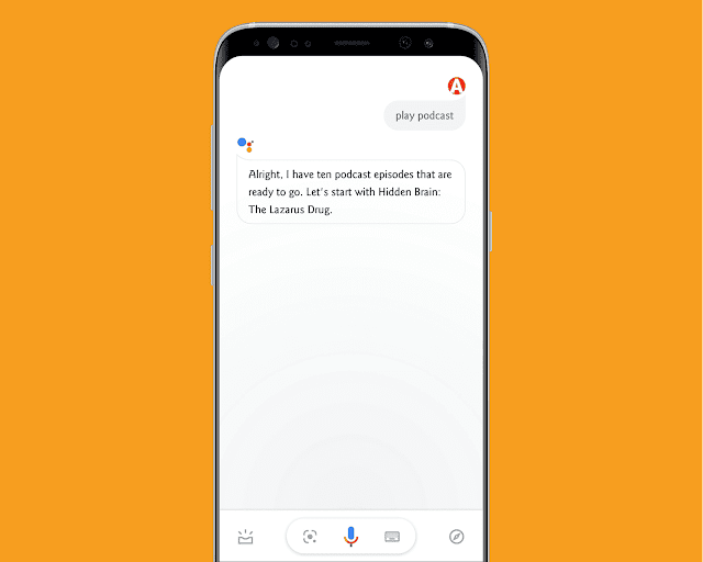 Play podcast with google assistant