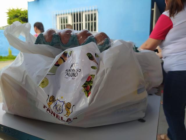 Kit alimentação para alunos da rede municipal em Panelas-PE