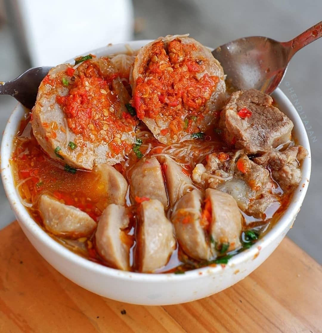 Resep Bakso Mercon Kuah Super Pedas Simple Sederhana