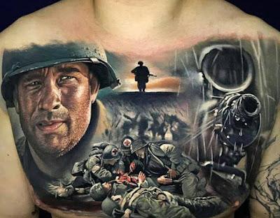 Tatuaje de Salven al soldado Ryan