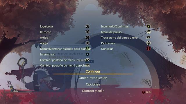 Spiritfarer - Controles