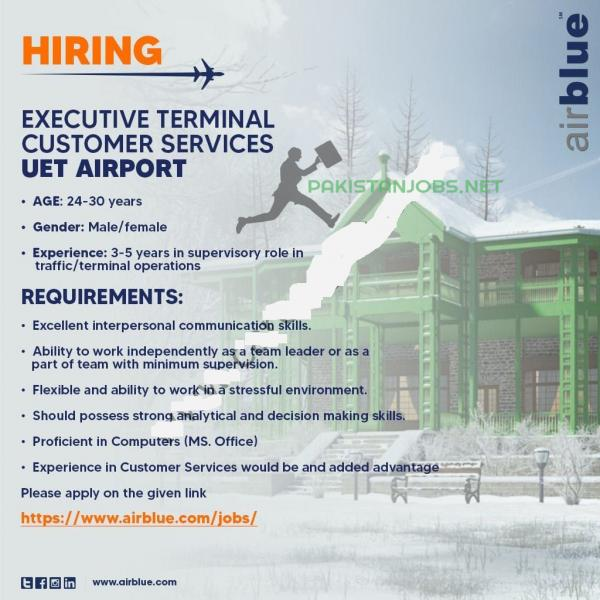 Air Blue Pakistan Jobs Sept 2021 Latest
