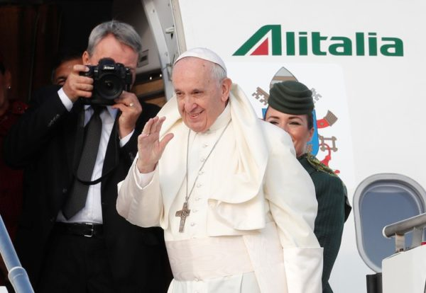 Pope arrives in Ireland