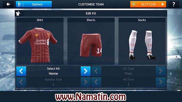 Kit Dream League Soccer Liverpool 2019