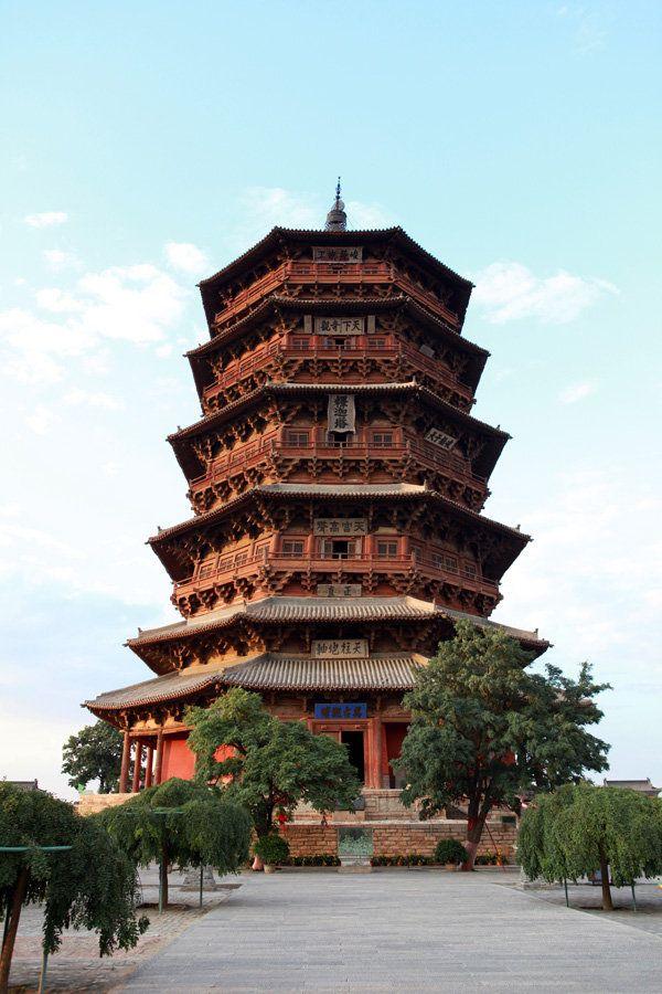 เจดีย์ไม้อิ้งเซี่ยน (Yingxian Wooden Pagoda: 应县木塔)