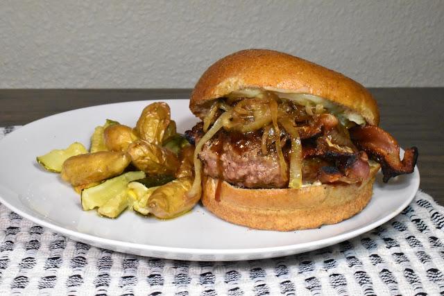 Bacon-Cheddar-Teriyaki Burger. Recipe by Nicole Ruiz Hudson. Photo by Greg Hudson.