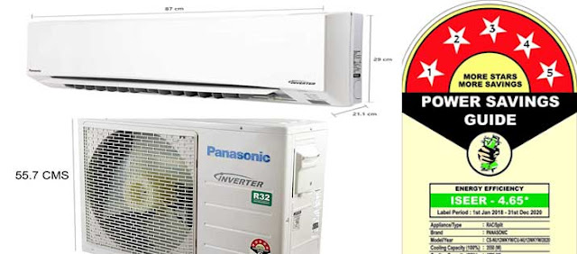 5 BEE star rating, Best Inverter Split AC with Copper for Rs 40000 Panasonic 1 Ton 5 Star Wi-Fi Inverter Split AC (Copper, PM 2.5 Filter, 2020 Model, CS/CU-NU12WKYW White) Rs 34,490
