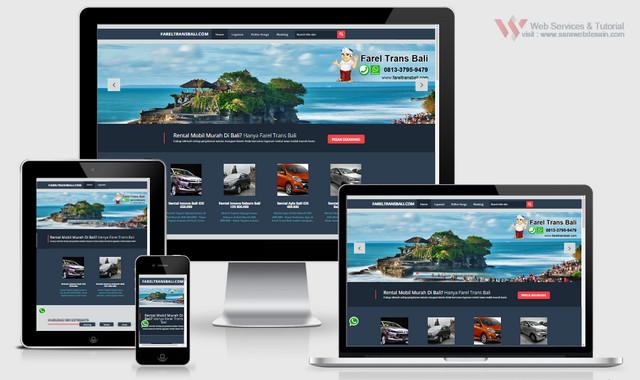 jasa pembuatan website rental mobil bali murah