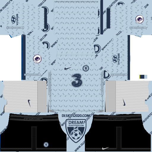 chelsea 2020-2021 Kit Nike kits dream league soccer 2019 (away)