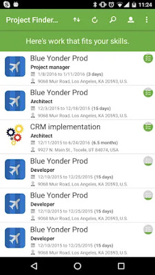 Project Finder for Dynamics365 Free Android App on Apcoid.com