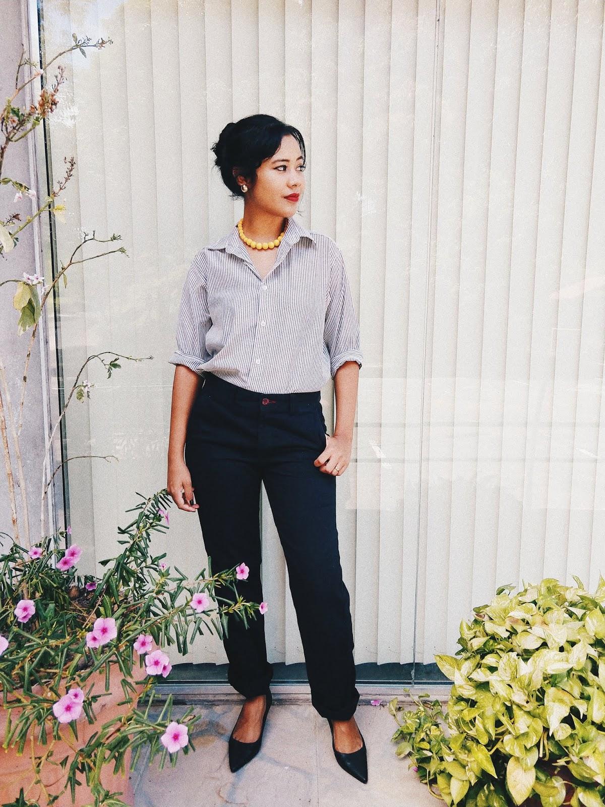 Camisa listrada + calça social