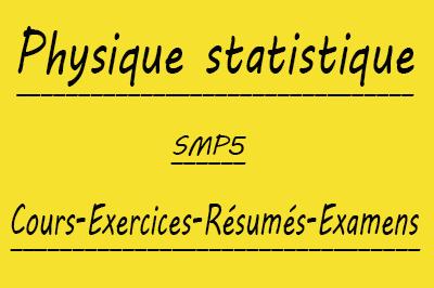 Physique Statistique (SMP5) Cours // Td Et Exercices // Résumés // Examens