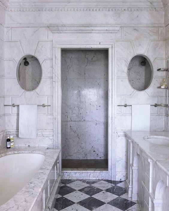 Marble Bathrooms Photos: Stunning All Marble Bathroom