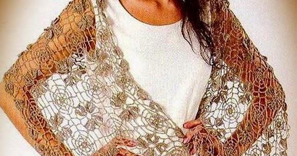 Crochet Shawls: Crochet Lace Shawl Wrap - Gorgeous fine Lace - free ...