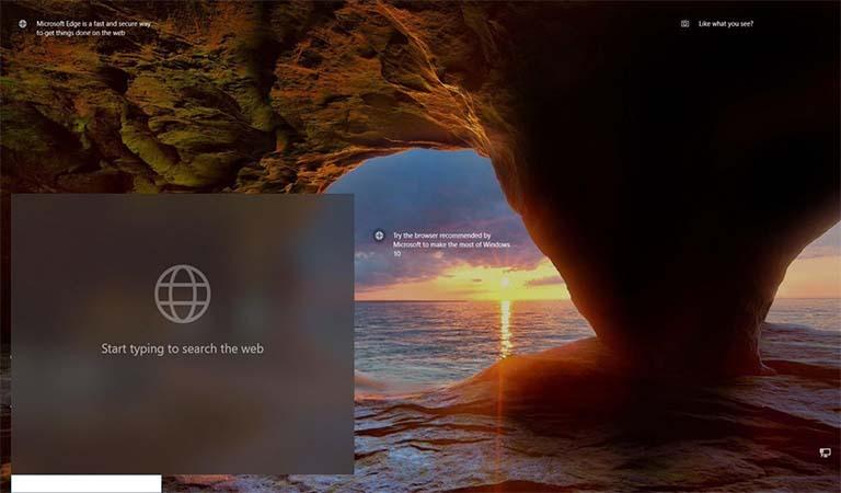 Microsoft Coba Menambahkan Kotak Pencarian Ke Lock Screen Windows 10
