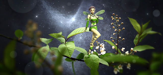 Image: Fantasy Elf on Leaves, by Stefan Keller on Pixabay
