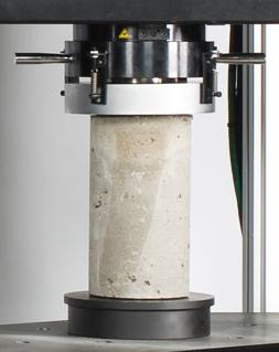 Concrete Cylindrical Specimen Under Test Arrangement