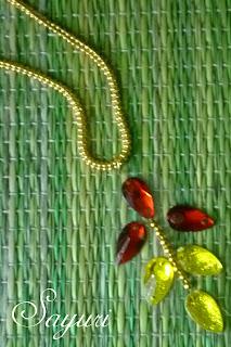 DIY Kundan stone pendant