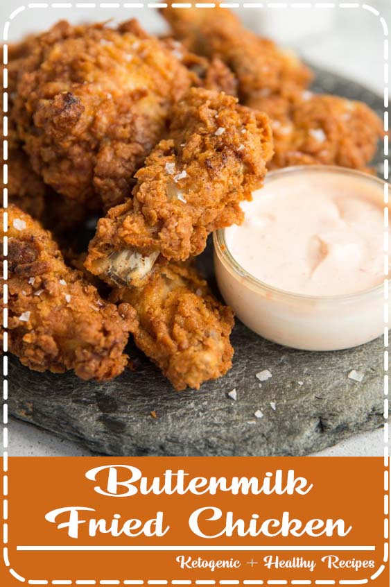 This Buttermilk Fried Chicken recipe is packed with all the tips you need to make EXTRA c Buttermilk Fried Chicken