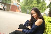 Poojita Super Cute Smile in Blue Top black Trousers at Darsakudu press meet ~ Celebrities Galleries 078.JPG