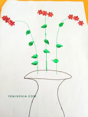 kegiatan anak, menempel bentuk daun