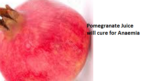 Pomegranate Juice  will cure for Anaemia