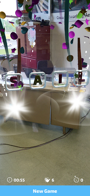 Catchy Words - A Fun Augmented Reality App for Spelling Practice