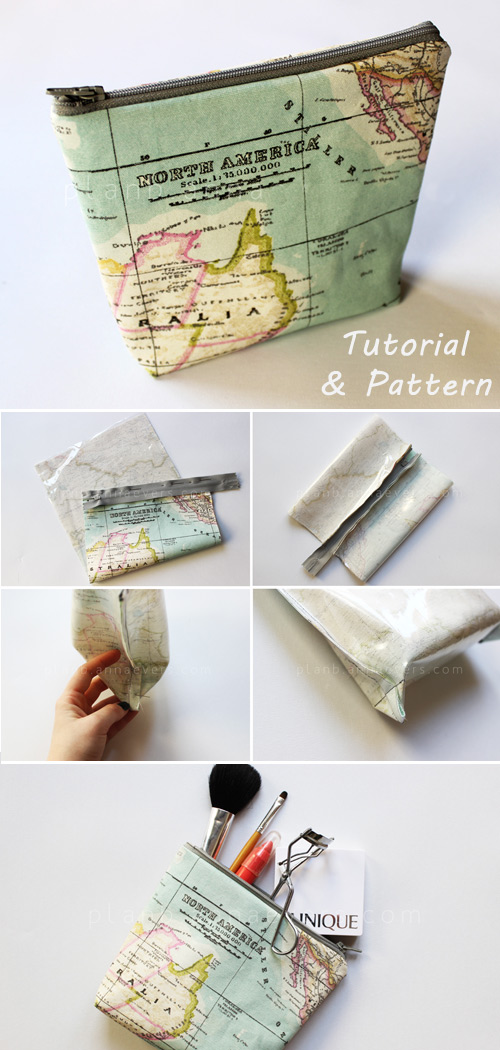 DIY Makeup Bag Pattern & Tutorial