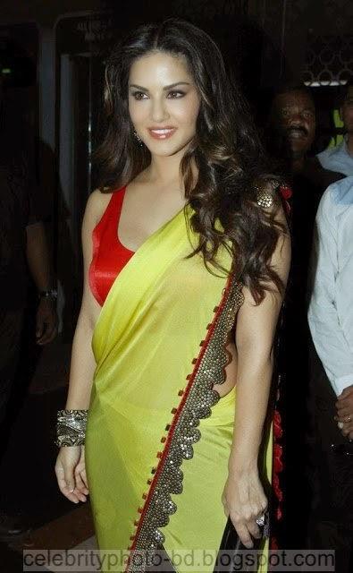 Sunny Leone Stills 16 Saree Photography at Ek Paheli Leela Movie Trailer Launch Photos
