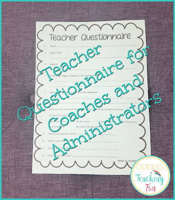 Teacher coaching questionnaire for instructional coaches and principals