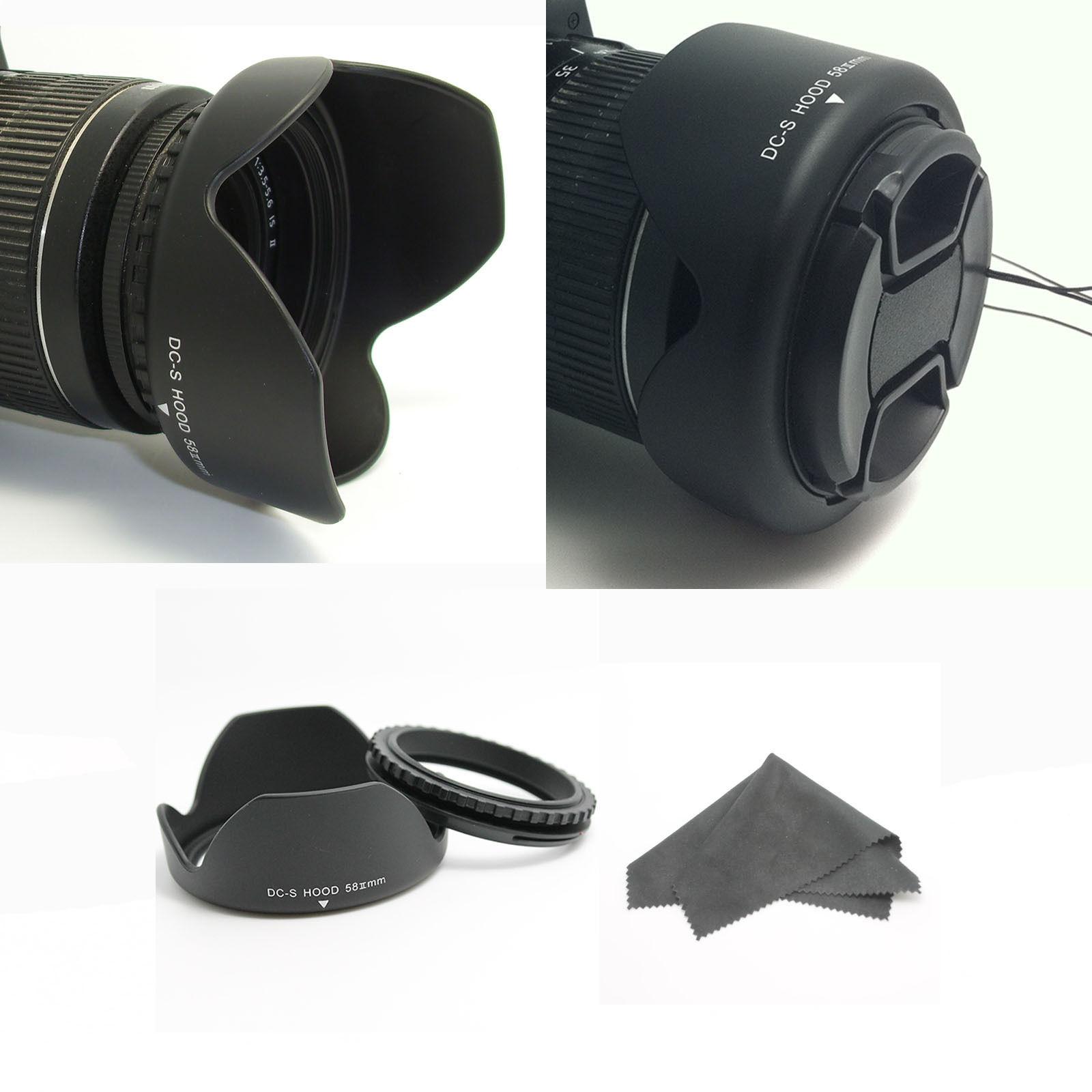 Sher Camera Rentals Store Lens Hood For Cameras 52mm Screw Mount 58mm Reversible Petal Flower Ii Canon 18x55mm 650