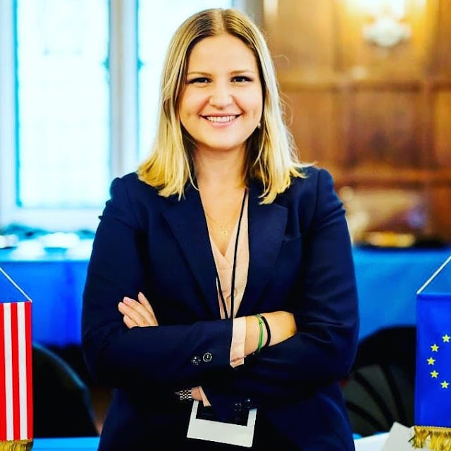 Arba Kokalari, the first Albanian Member of the European Parliament chosen in Sweden