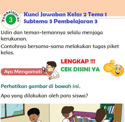 Kunci Jawaban Kelas 2 Tema 1 Subtema 3 Pembelajaran 3 www.simplenews.me