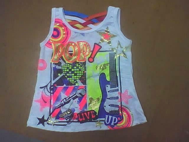 blusa para niñas amplia en ruedo y estampada
