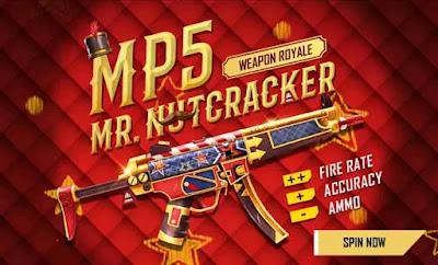 Free Fire MP5 Mr Nutcracker Redeem Code For Free
